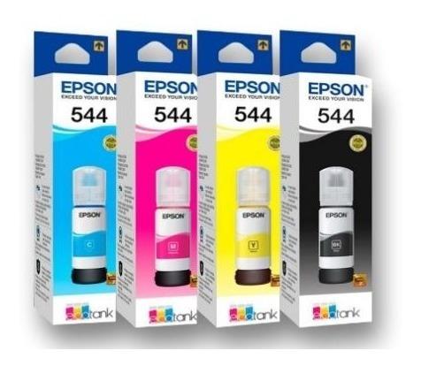 Tinta Epson Original T544 L3150 L1110 L5190