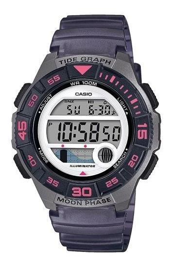 Reloj Casio Digital Tide Moon Lws-1100h-8av Dama E-watch