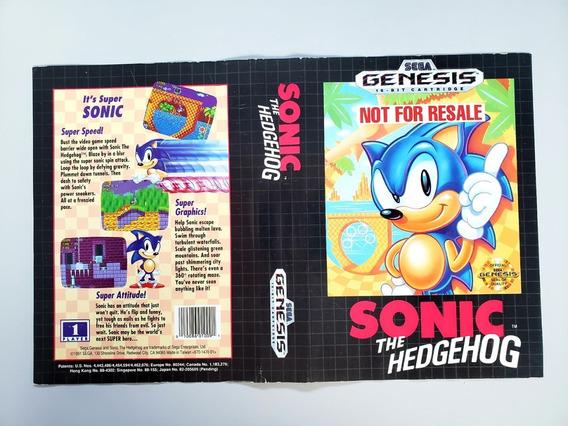 Encarte Sonic Mega Drive Original