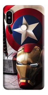 Estuche Forro Carcasa Avengers Super Xiaomi Motorola Asus