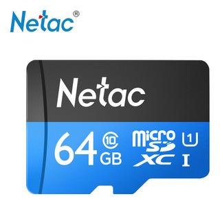 Dados Cartão Memória Flash Netac P500 Classe 10 64g Micro Sd