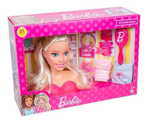 Barbie Busto Penteados Com Acessórios 11701255 Rosa Pupee