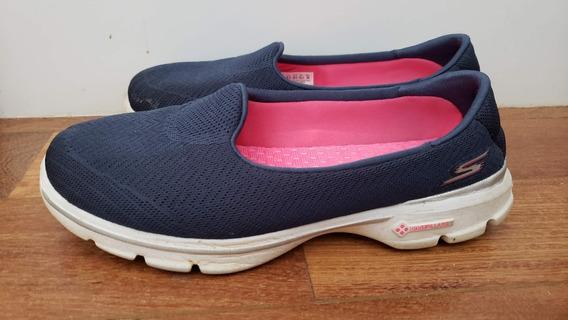 Tenis Gowalk 3 Skechers Feminino Azul Marinho Navy 38