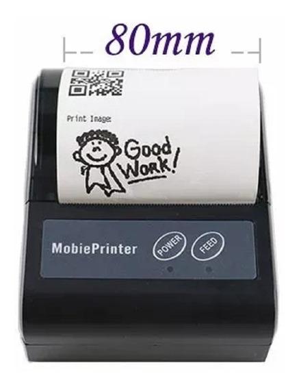 Mini Impressora Bluetooth Portat 80mm Cupom Pedido Cod Barra