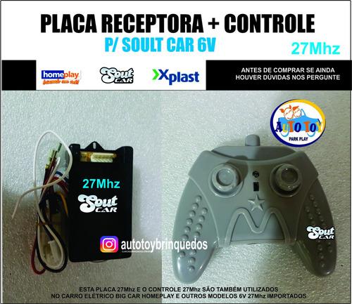 Imagem 1 de 6 de Soult Car 650- Controle Remoto 27mhz + Placa Receptora 27mhz