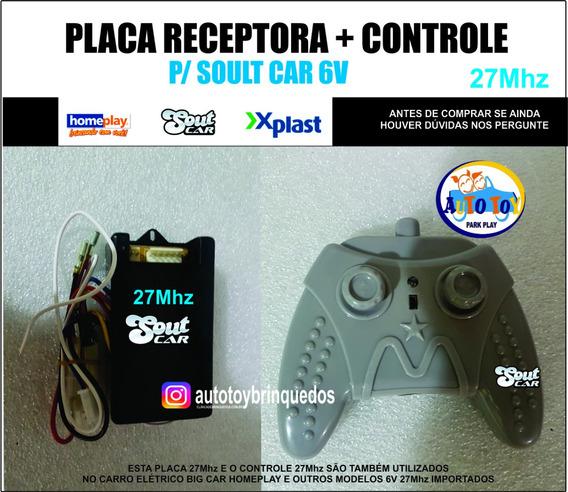 Soult Car 650- Controle Remoto 27mhz + Placa Receptora 27mhz