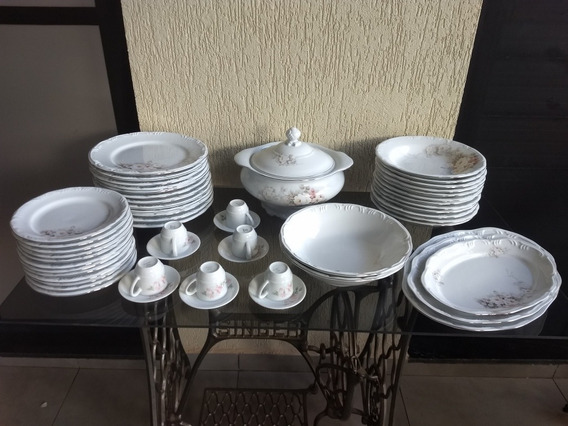 Aparelho De Jantar Porcelana Antiga Schimidt