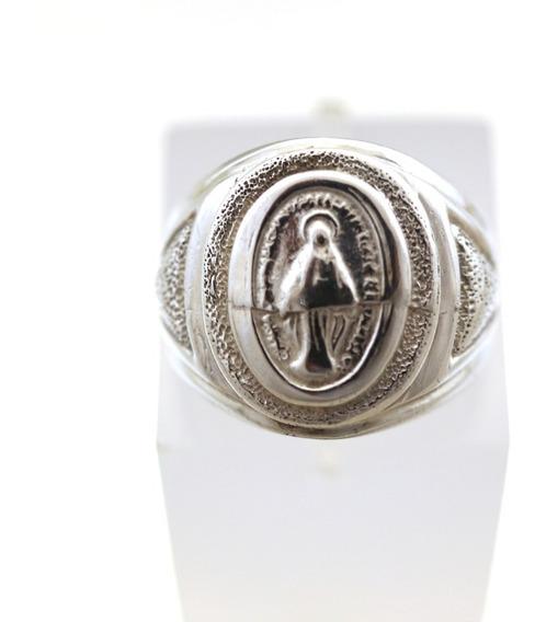 Anel Em Prata Imagem Nossa Senhora Medalha Milagrosa J6243