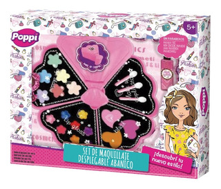 Set De Maquillaje Infantil Poppi Desplegable Abanico Pc
