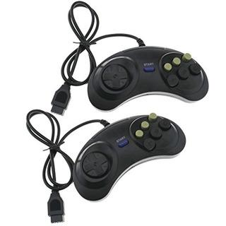 6 Botones De Juego De Control Joypad Reemplazo Para Sega Meg