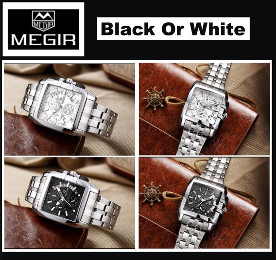 Relógio Megir Modelo Novo Quadrado Social Masc - Peso 177g