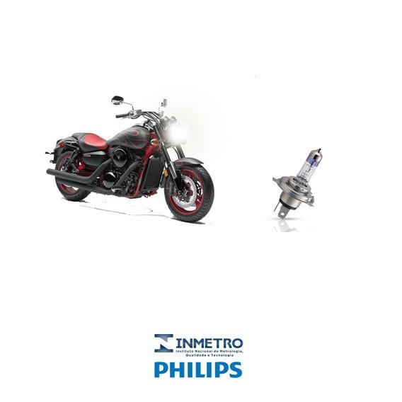 Lampada Farol Moto Kawasaki Vulcan 1600 Philips H4 100%+luz