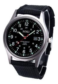 Relógio Feminino Pulso Soki Preto Promoção Barato