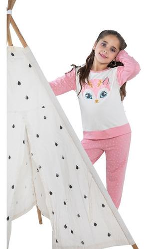 Imagen 1 de 8 de Pijama De Invierno Premium Nenas Niñas