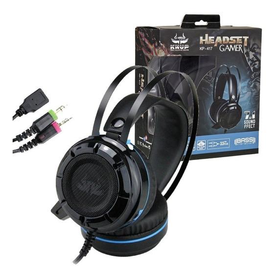 Headset Gamer 7.1 Usb P2 Ps4 Pc Xbox One C/ Fio Kp-417 Ofert