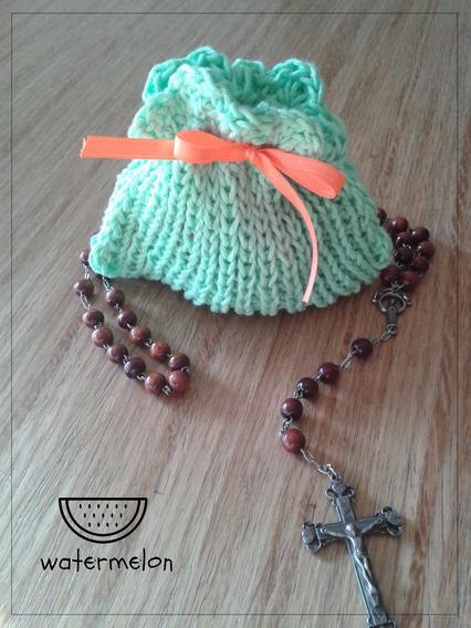 Monedero Tejido En Hilo Al Crochet Modelo Hortencia