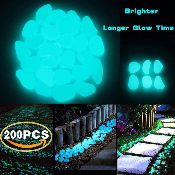 100 Seixos Fluorecentes Azul E Verde - Frete Grátis