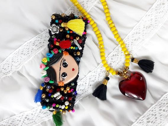 Pulsera Artesanal Tejida Con Frida