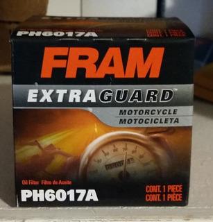 Filtro De Aceite Fram Ph6017a - Yamaha R1-r6, Honda Cbr, Kawasaki Ninja, Harley-davidson Street 750