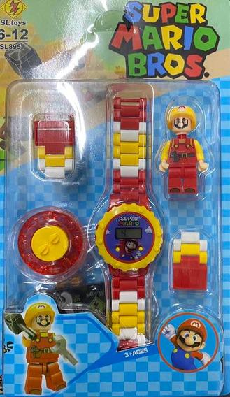 Reloj De Lego Mario, Dragon Ball, Paw Patrol Para Niños