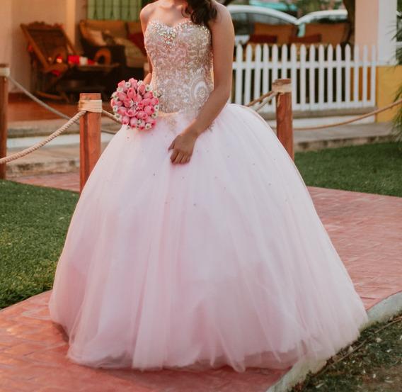 Vestido De Xv Años Marca:scarlet Color: Rosa Pastel