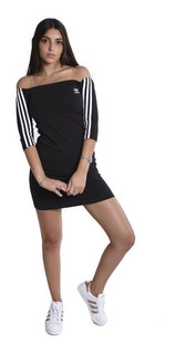 Vestido adidas Originals Shoulder Negro