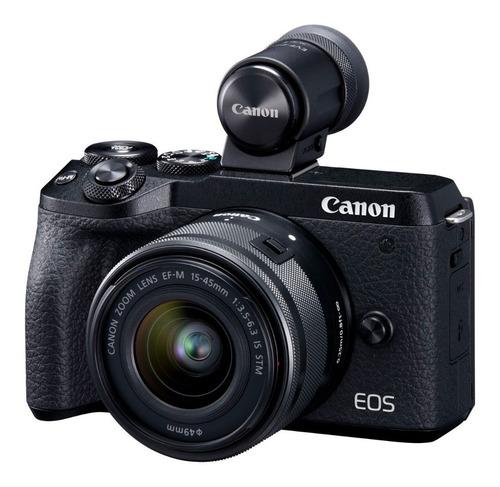 Camara Canon Eos M6 Mark Ii 15-45 Visor Evf-dc2 32,5 Mpx 4k