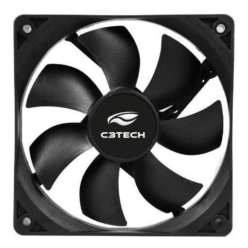 Kit C/ 3 Unid. - Cooler P/ Gabinete C3tech Fan 8x8 Cm Preto