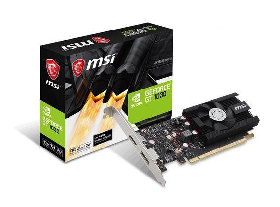 Msi Gt 1030 2gb Oc Ddr4 Low Profile Nvidia
