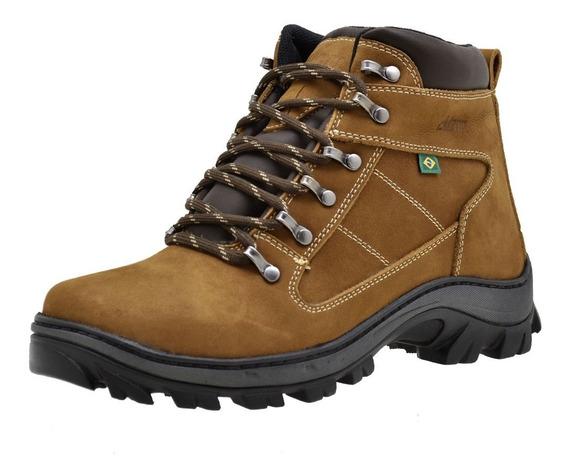 Bota Coturno Adventure Atron Shoes Couro Legitimo Nobuck 260