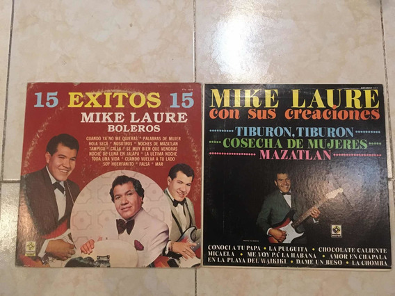 Disco Lp Acetato Mike Laure Lote De 2 Albumes