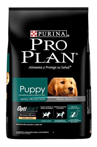 Imagen 1 de 3 de Alimento Pro Plan OptiStart Puppy para perro cachorro de raza mediana sabor pollo/arroz en bolsa de 7.5kg