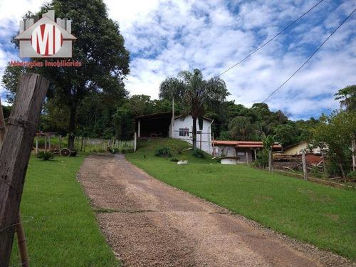 Linda Chácara Com 02 Dormitórios, Jardim, Ótimo Padrão De Acabamento, No Asfalto, À Venda, 2300 M² Por R$ 320.000 - Zona Rural - Pinhalzinho/sp - Ch0845