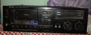 Estero Cassette Deck Rt-10 Bk Sharp Sistem Metal, Funciona