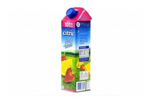 Jugo De Naranja-frutilla Citric X 1lt
