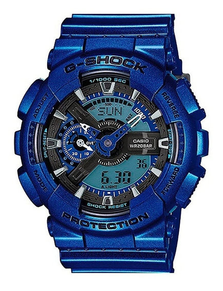 Relógio G-shock Azul Metalico C/ Preto A Pronta Entrega
