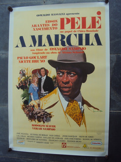 Cartaz A Marcha Pele 1972 Oswaldo Sampaio Poster Fotografia