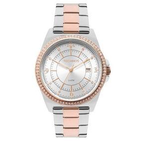 Relógio Technos Feminino Rose Silver - Brilhoso - 2115mmp/5k