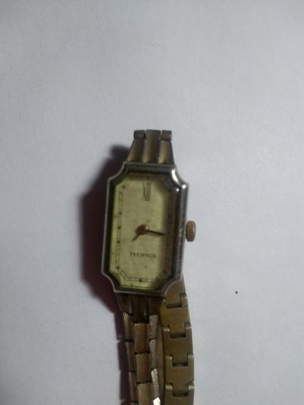 Relógio Technos Feminino Dourado Antigo Para Revisão