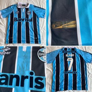 Camisa Grêmio Topper 2012 Elano 7 Autografada G - Perfeita