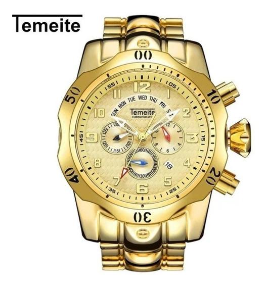 Relógio Temeite Dourado