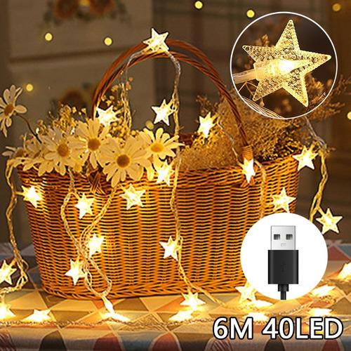 Luces De La Estrella Cuerda Usb Carga Luz Tira Decorativa