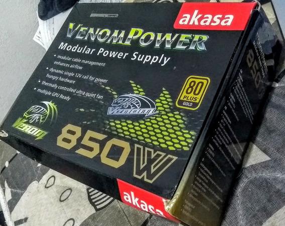 Fonte Akasa Venom 850w 80 Plus Gold Semi-modular