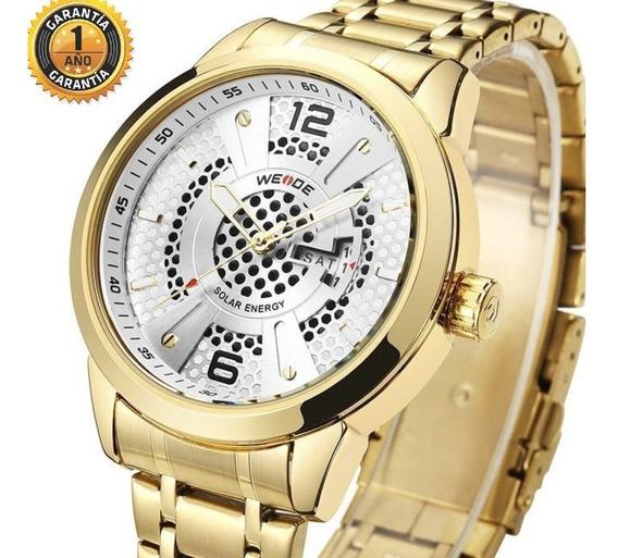 Relógios Masculinos Dourados Original Aço Esporte Resistente