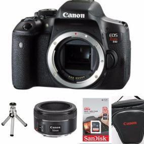 Câmera Canon T7i (corpo) + 50mm 1.8 Stm + 32gb+bolsa+tripé