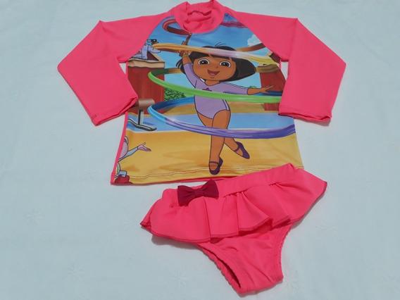 Blusa Biquíni De Proteção Solar Infantil Infantil Unicórnio