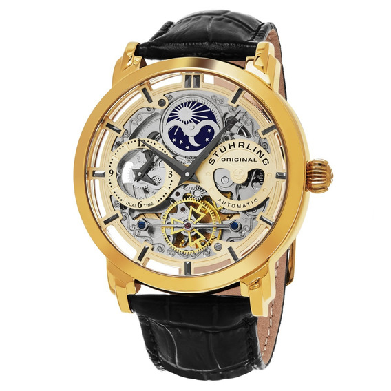 Reloj Hombre Stuhrling Automatico Skeleton Anatol 371.02