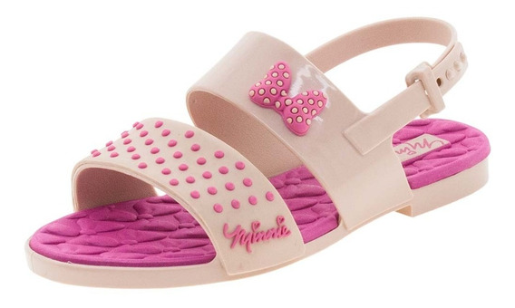 Sandália Infantil Feminina Minnie Chic Rosa Grendene Kids -