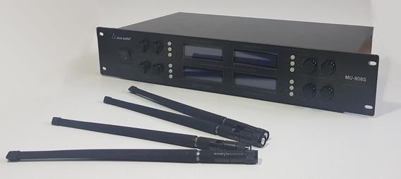 Ava Audio Mu-808s Microfone Sem Fio 8 Canais Uhf