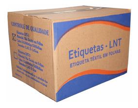 Etiqueta De Composição Lnt1 - 2,45x4,45cm Cx C/ 24.000 Etiq.